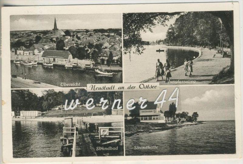 Neustadt  an der Ostsee v.1959 Stadt,Jungfernstieg,Strandbad,Hotel Stadthalle  (15499-033)