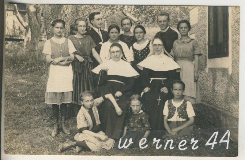 Unter-Premstätten v.1926 Nonnen,Pfarrer,Mädchen,Kinder  (18085) 0