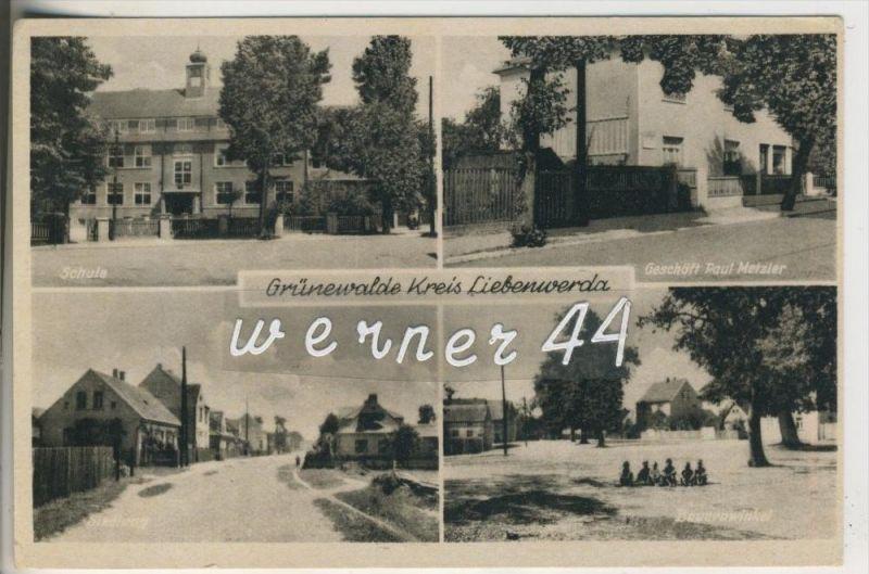 Grünewalde v. 1953 Schule,Geschäft Paul Metzler,Siedlung,Bauernwinkel (23336)