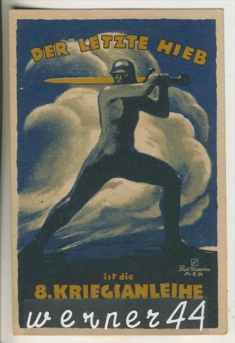 Der letzte Hieb ist die 8. Kriegsanleihe v. 1916 (27496)