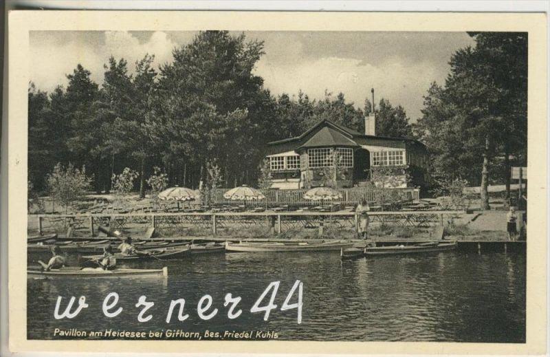 Gifhorn v. 1950  Pavillon am Heidesee bei Gihorn, Bes. Friedel Kuhls  (46726)