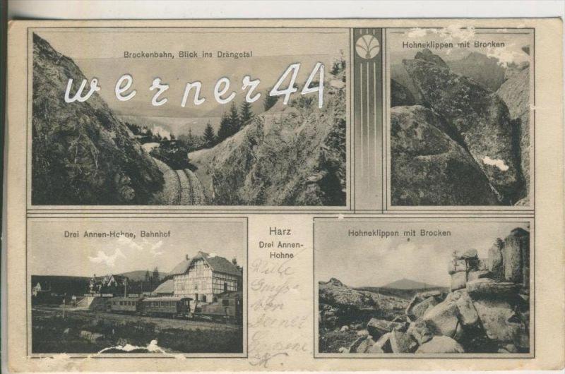Drei Annen Hohne v. 1910  Brockenbahn,Hohneklippen,Dei Annen Hohne-Bahnhof  (46735)
