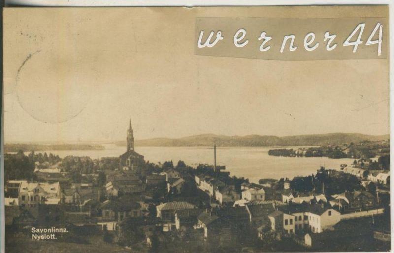 Savonlinna v. 1928  Teil-Stadt-Ansicht  (46736)
