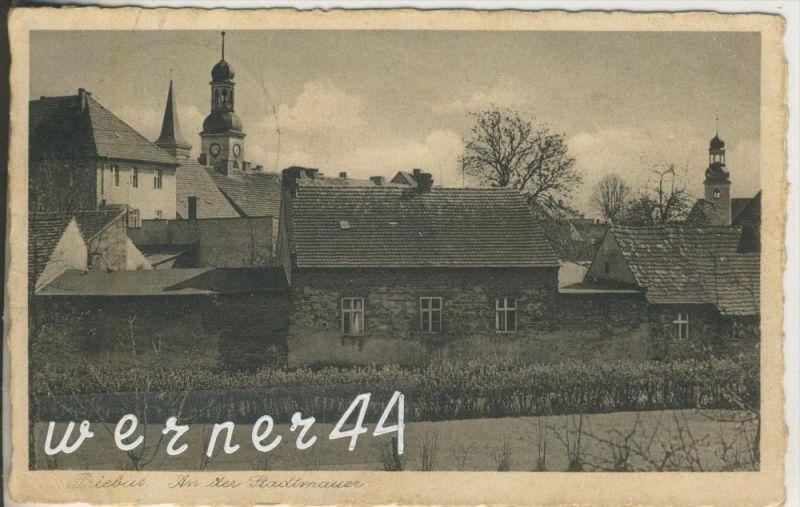 Priebus  = Przewóz v. 1935  An der Stadtmauer mit 2 Kirchen (46900) NEU !!