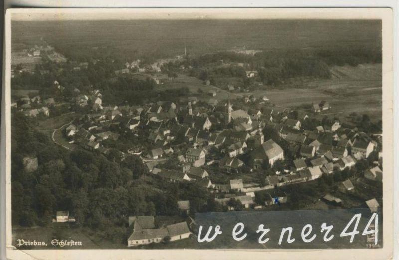 Priebus  = Przewóz v. 1941  Total-Dorf-Ansicht  (46901)