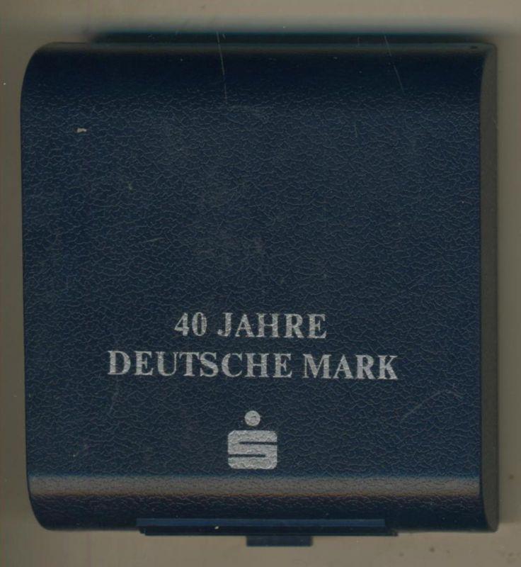 JUBILÄUMS SILBERMARK / 40 JAHRE DEUTSCHE MARK  (47955-2)