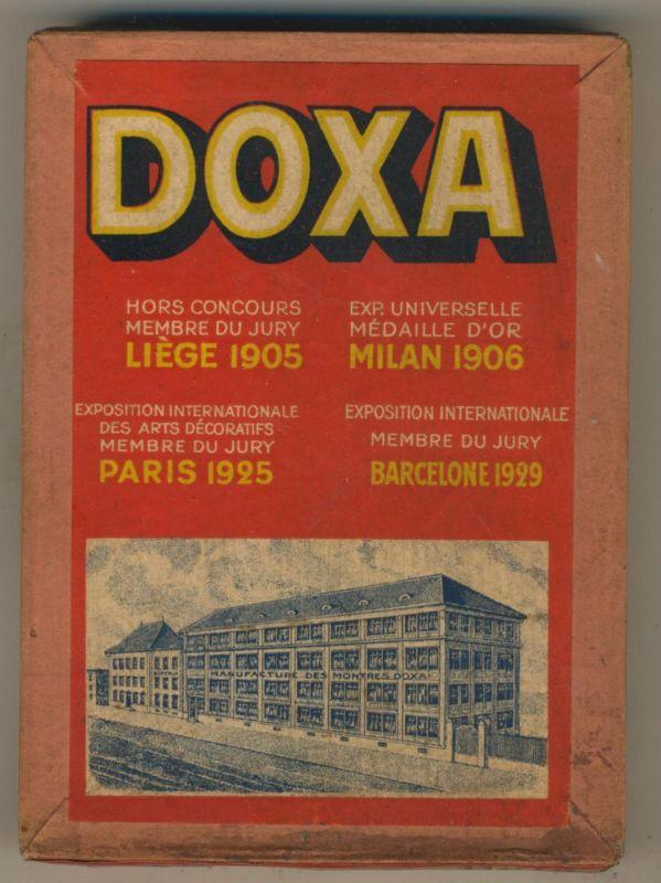 Le Locle / Schweiz v. 1929  Kiste Doxa mit Uhrenkleinteile    (2)