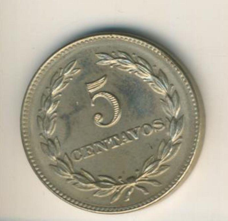 Salvador v. 1977  5 Centavos  (49156)
