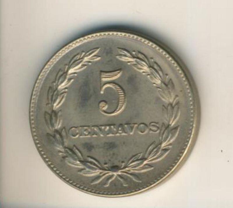 Salvador v. 1977  5 Centavos  (49155)