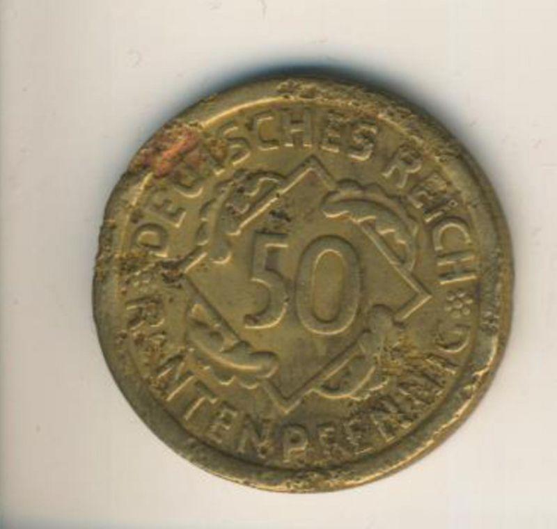 Deutsches Reich v. 1923  50 Rentenpfennig