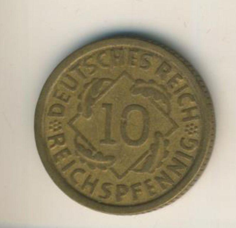 Deutsches Reich v. 1929  10 Reichspfennig  (49166)