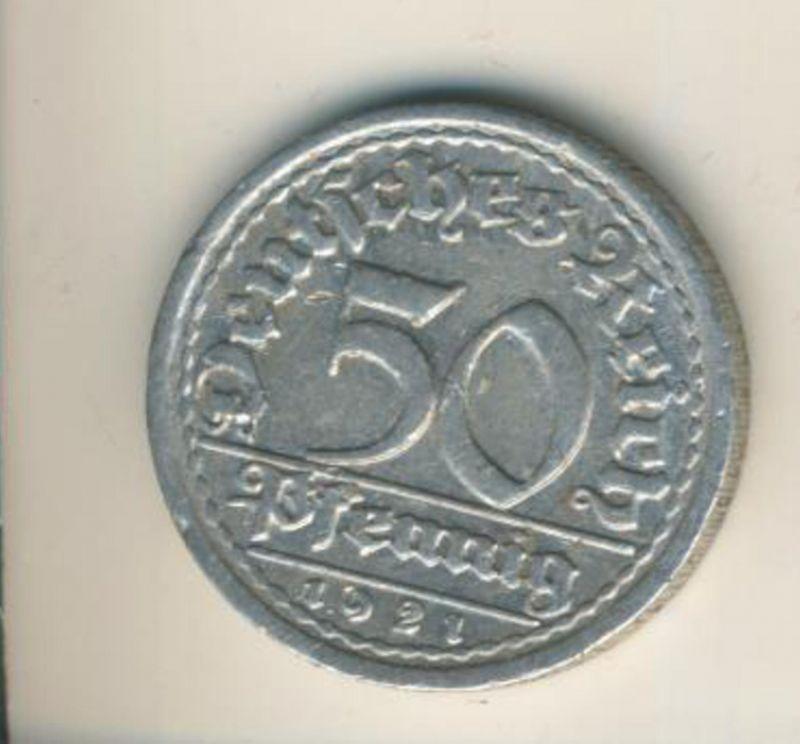 Deutsches Reich v. 1921  50 Pfennig  (49168)