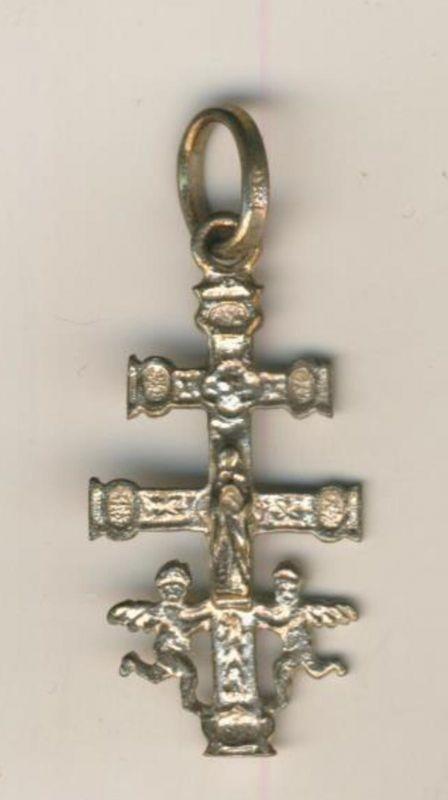 Caravaca-Kreuz / Doppelkreuz mit Engel  (Kreuz/ Engel 2)