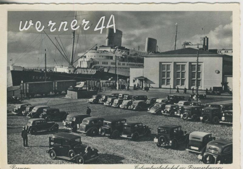 Bremerhaven v. 1926   Columbusbahnhof in Bremerhaven  (49911)