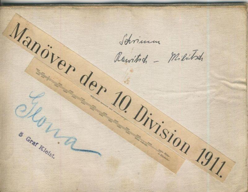 Manöver der 10. Division 1911 -- Schwerin-Rewitsch-Militsch  (50399-46)