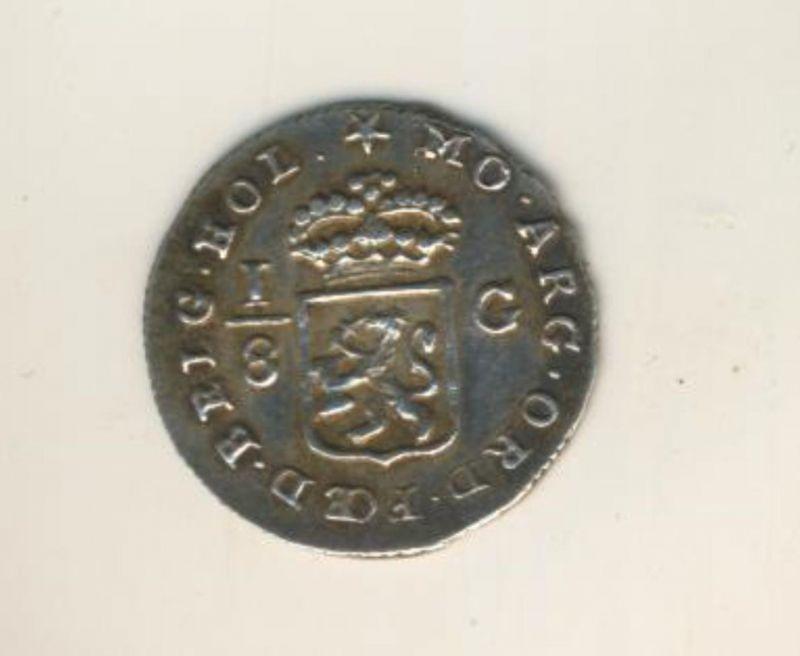 Niederlande-Batavische Republik, 1/8 Gulden 1802 -- Für Ostindien  (50199-26)