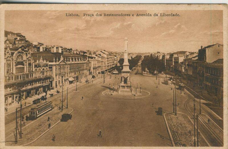 Lisboa v. 1930  Parca dos Restauradores e Avenida da Liberdade  (50945)