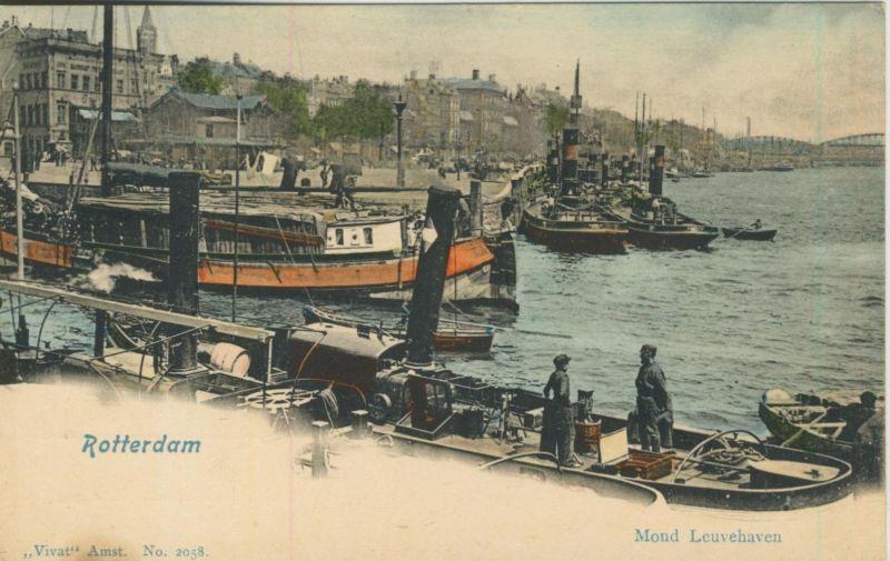 Rotterdam v. 1910  Mond Leuvehaven  (50959)