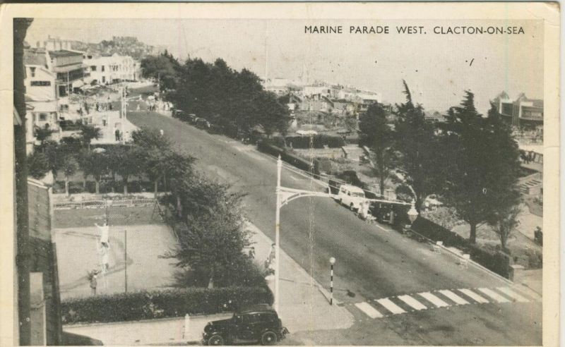 Clacton on Sea v. 1956  Marine Parade West.  (50984)