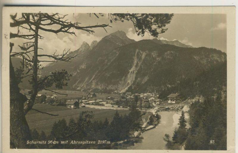 Scharnitz v. 1920  Dorfansicht mit Ahrenspitzen  (50985)