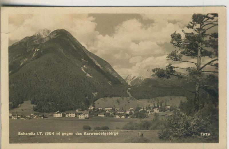 Scharnitz v. 1920  Dorfansicht (50987)