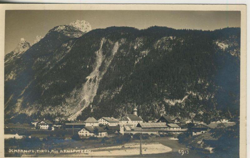 Scharnitz v. 1928  Dorfansicht (50988)