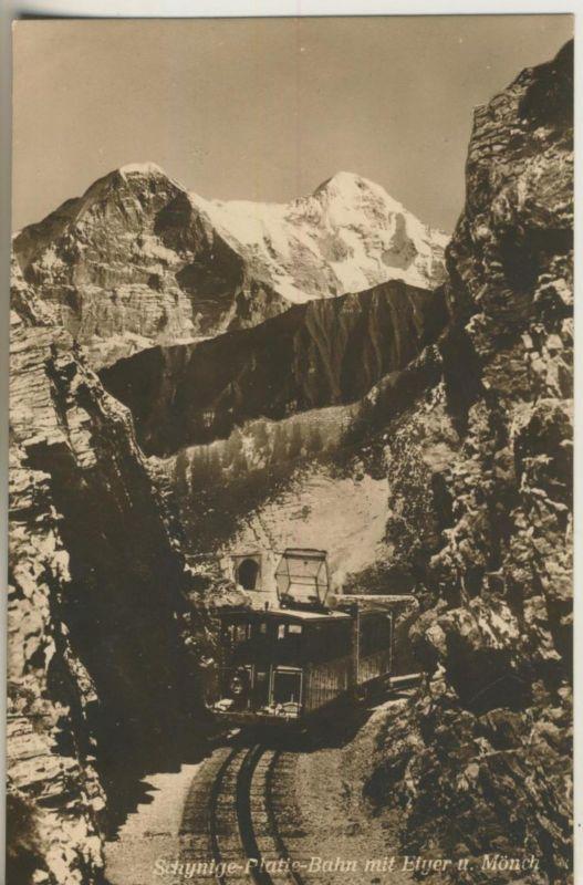 Berner-Oberland v. 1924  Schynige Platie Bahn mit Eiger u. Mönch  (50990)