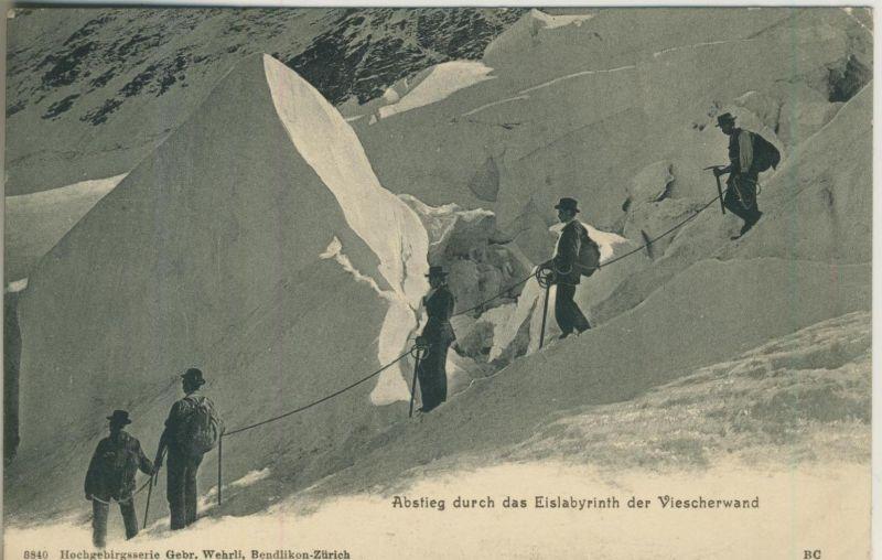 Abstieg durch das Eislabyrinth der Vischerwand v. 1908  (50991)