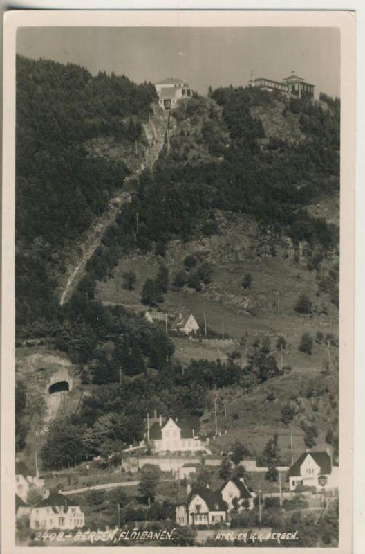 Bergen v. 1926 Floibanen (Dorf und Bahnhof)  (50992)