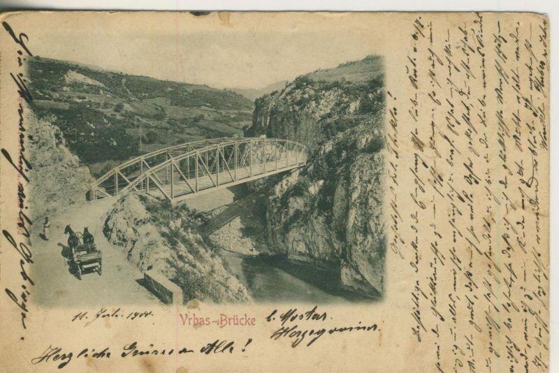 Vrbas Brücke v. 1904  (50993)
