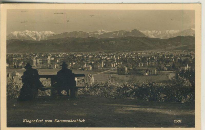 Klagenfurt v. 1933  Karawankenblick zur Stadt hin  (50999-8)