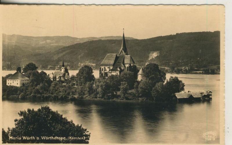 Maria Wörth v. 1928  Maria Wörth mit Wörthersee  (50999-31)