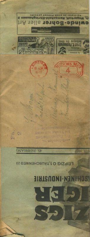 Klepzigs  Anzeiger v. 1937  Für Metall und Maschienen -Intrustrie mit Original-Banderole  (51157)