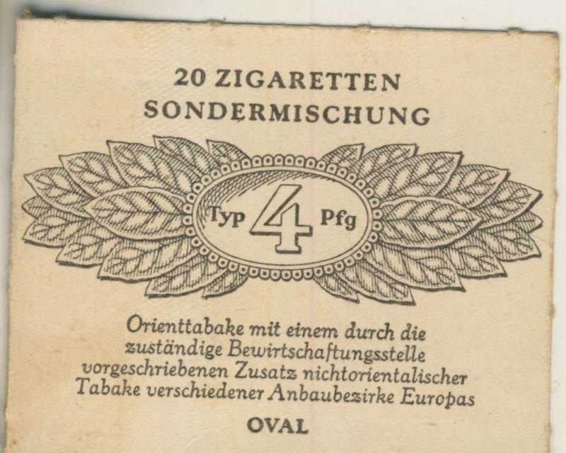 Oval Zigaretten Sondermischung - Typ 4 Pfg. ca. von 1944/45  (51368)