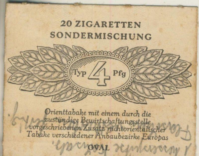 Oval Zigaretten Sondermischung - Typ 4 Pfg. ca. von 1944/45  (51369)