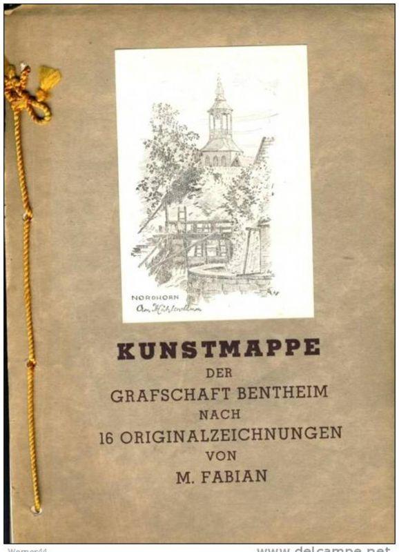 Kunstmappe von M. Fabian aus Nordhorn...sh. beschr.!!  (28999-9)