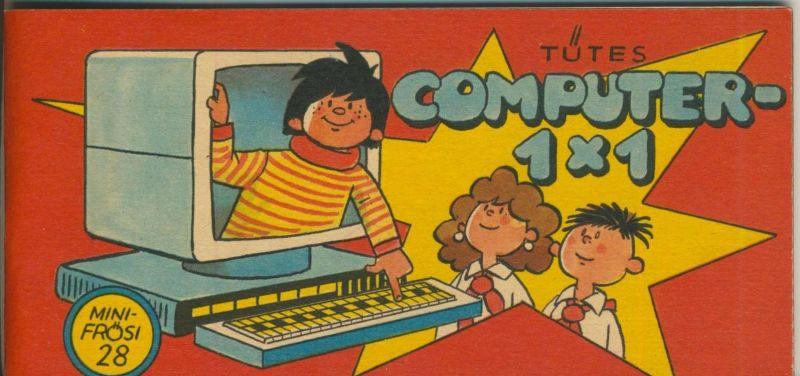 DDR v. 1986  Tütes Computer- 1x1 -- Mini Frösi 28  (51682)