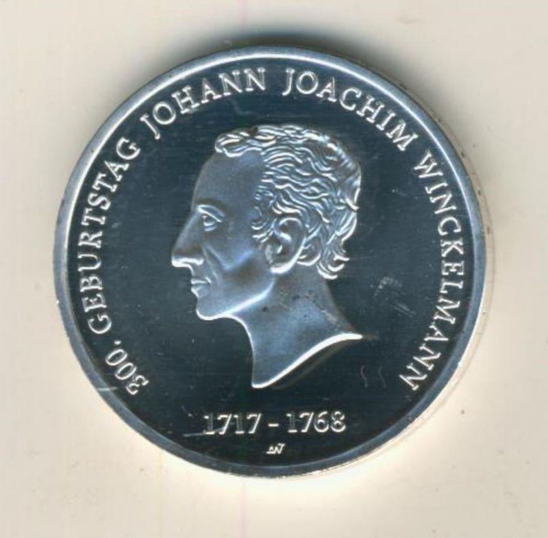 20 Euro Silbermünze 2017 bfr  300. Geburtstag Johann Joachim Winckelmann mit Echtheits-Urkunde  (51697)
