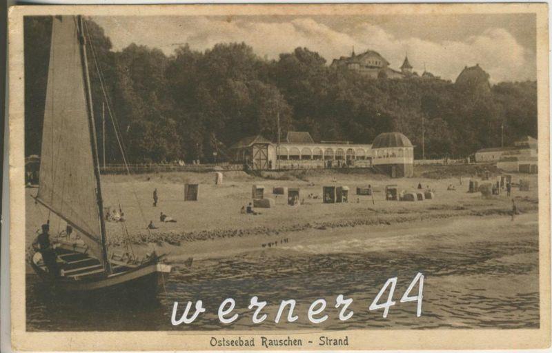 Rauschen v.1930 Hotel,Badehaus,Strand,Boot  (13285)