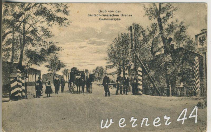 Skalmierzyce v.1916 Deutsch- Russische Grenze  (13297)