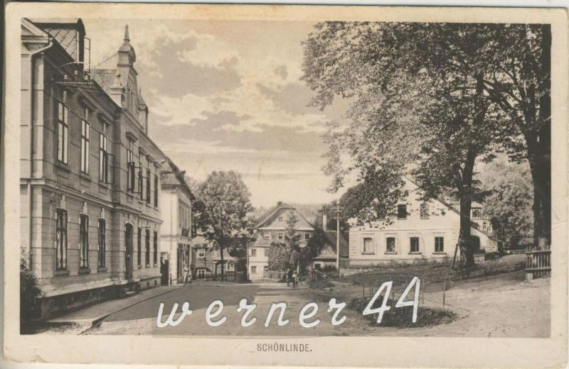Schönlinde v.1930 Strassensicht (13299)