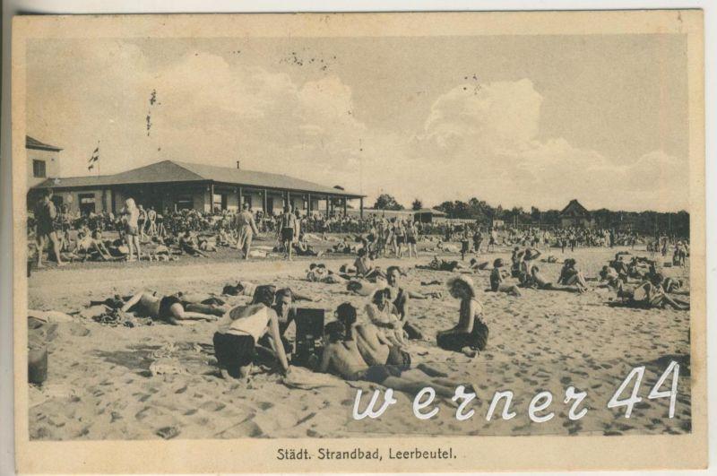 Leerbeutel v.1932 Strandcafe und das Städt. Stranbad  (12600)