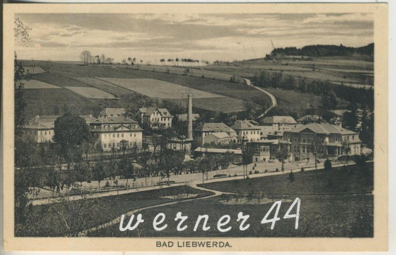 Bad Liebwerda v.1915  Dorfansicht mit einer Fabrik   (12608)