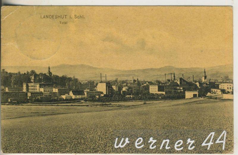Landeshut v.1910 Teil-Stadtansicht (12609)