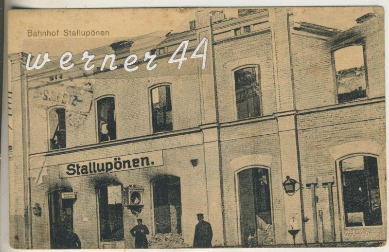 Stallupönen v.1915  Der Bahnhof (13306)