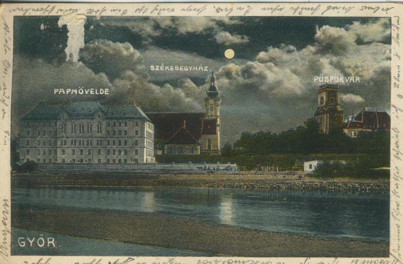 Gyor v. 1925  Teil-Stadt-Ansicht  (52081)