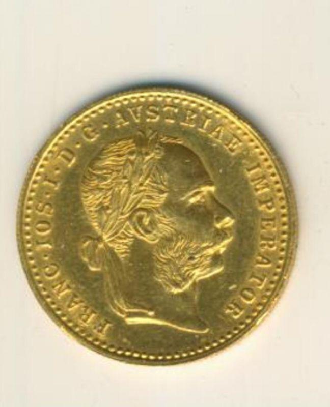 1 Dukat 1915, Gold Franc IOS I D G Avstriae Imperator (Gold-Münzen 40499-61)