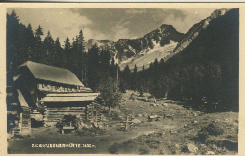 Mallnitz v. 1937  (Jausenstation Schwussnerhütte  (52710)