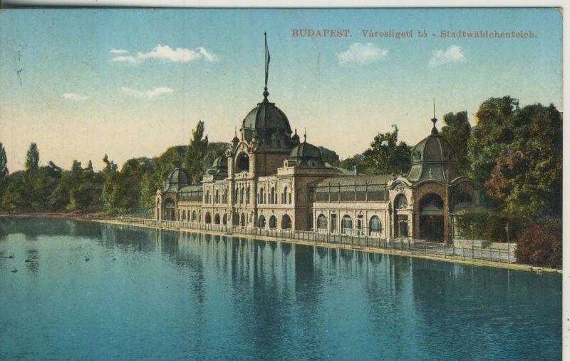 Budapest v. 1914  Stadtwäldchenteich  (53051)
