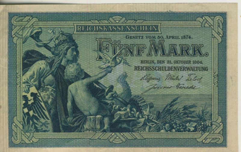 Reichskassenschein -- Fünf Mark  (53194)
